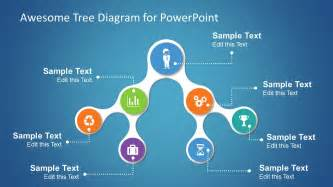 diagram powerpoint templates simple tree diagrams data structure with icons slidemodel