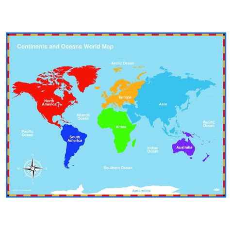 map world ks1 buy continents and oceans maps tts
