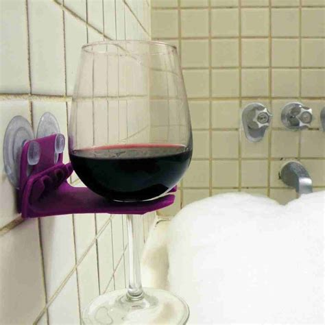 Wine Glass Holder For Shower by Completely Smart Inventions You Never Thought You Needed