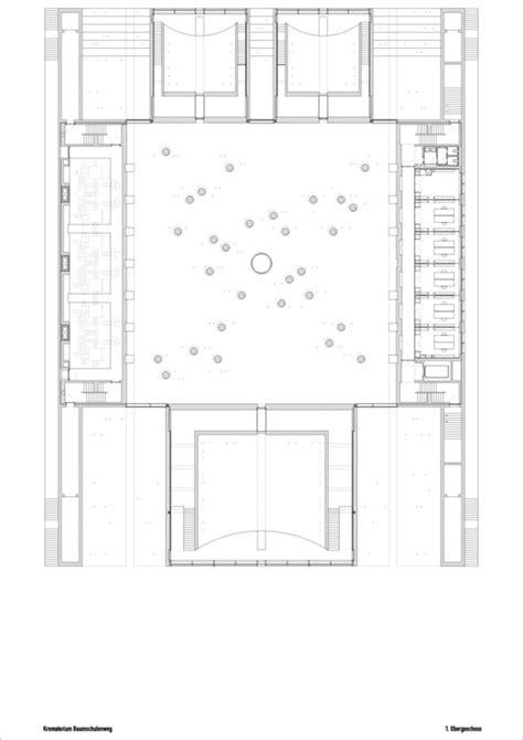 crematorium floor plan crematorium baumschulenweg shultes frank architeckten