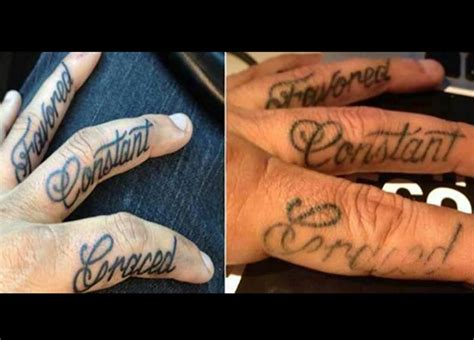 finger word tattoos word and dagger both fingers tattoos