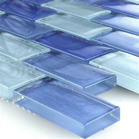 clear glass crystal tiles brick blue www mosafil co uk