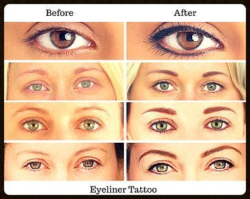 eyeliner tattoo before and after eyeliner before and after cosmetics