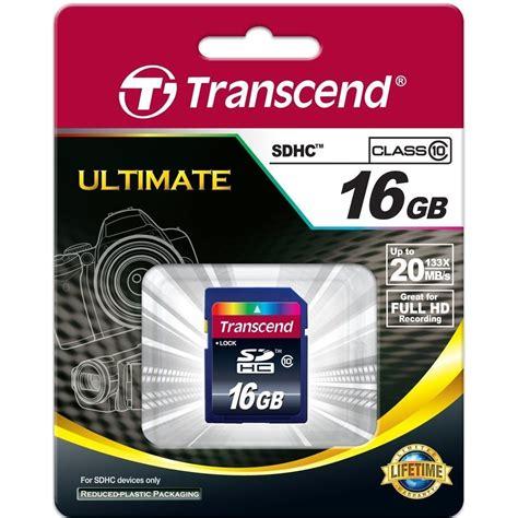 Transcend Sdhc Class 4 16gb original transcend class 10 16gb sdhc memory card