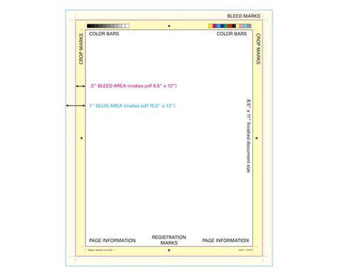 printable area indesign get on your mark crop marks bleed marks registration