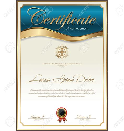 template for certificate certificate template print stock vector diploma