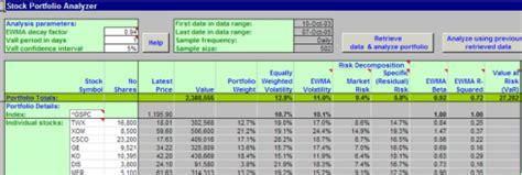Portfolio Optimizer For Excel Hoadley Variance Optimization Excel Template