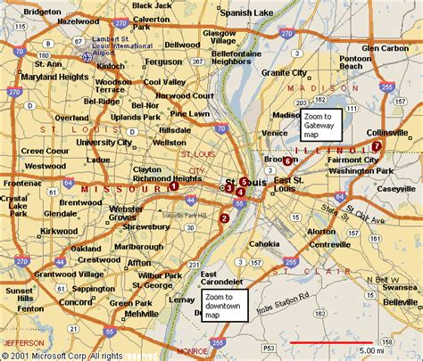 map of st louis map of st louis travelsmaps