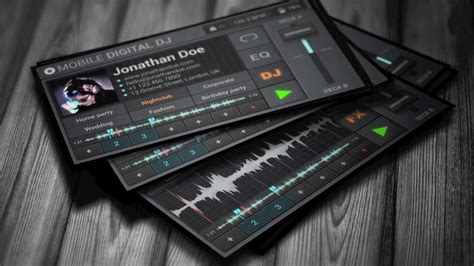 Digital Dj Business Card Template Free by Mobile Traktor Dj Business Card Template