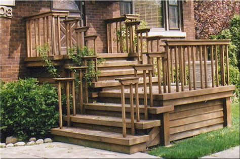 Wooden Front Stairs Design Ideas Wooden Stairs W Simple Railing Front Steps Redo Wooden Steps Decks And Front Deck
