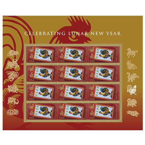 new year envelopes canada new issue usps to celebrate year of the rooster with