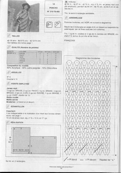 Modèle de poncho adulte au tricot | VHD Créations