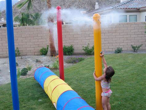 High Pressure Patio Misting System by Fog In Water Play Features Koolfog Fog Systems