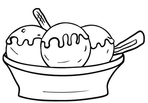 Ice Cream Bowl Coloring Page | baking bowl coloring coloring pages