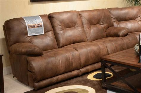 voyager lay flat reclining sofa catnapper voyager power lay flat sofa with 3 recliners and
