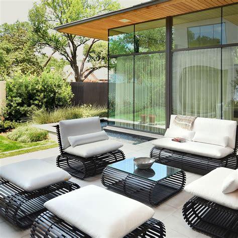 piece contemporary patio furniture set stori modern