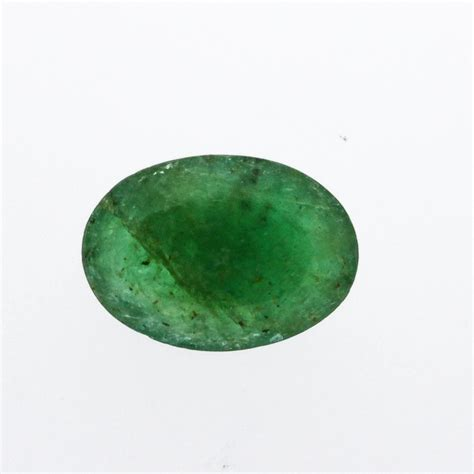5 Ct Oval Cut Emerald Gemstone 4 5 ct one oval cut emerald