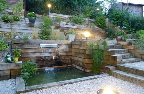r 233 alisation d un jardin en pente jardin