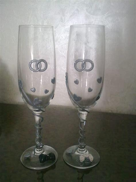 bicchieri decorati bicchieri in vetro decorati in fimo feste matrimonio