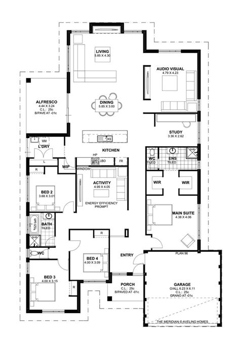7 bedroom house plans australia floor plan friday 4 bedroom theatre activity and study katrina chambers
