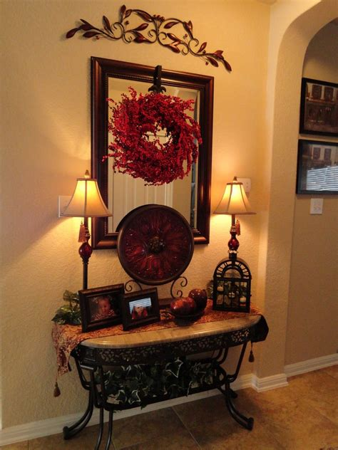 tuscan home decor ideas love foyer table tuscan style the iron accents