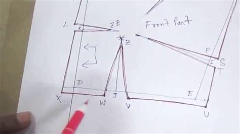 pattern cutting youtube plain blouse drafting pattern cutting stitching part 1