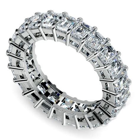 emerald eternity ring in white gold 5 2 3 ctw