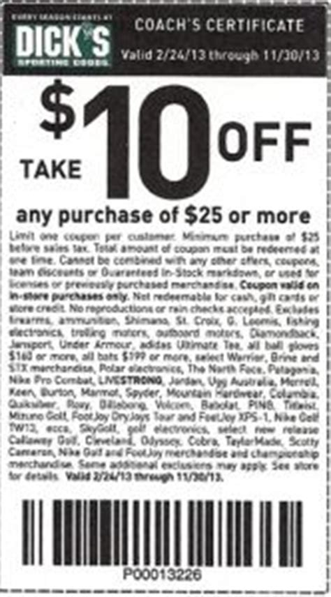 Promo Coach 178 7 sporting goods coupon on printable