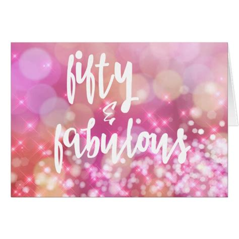 Be Fabulous 50 50 fabulous 50th birthday pink card zazzle co uk