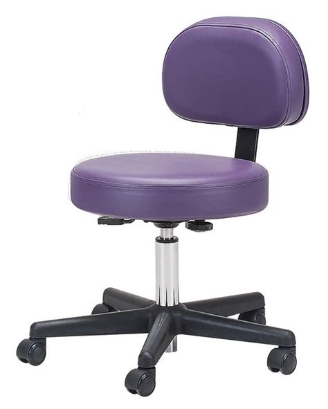 rolling pneumatic stool with back support rolling stools