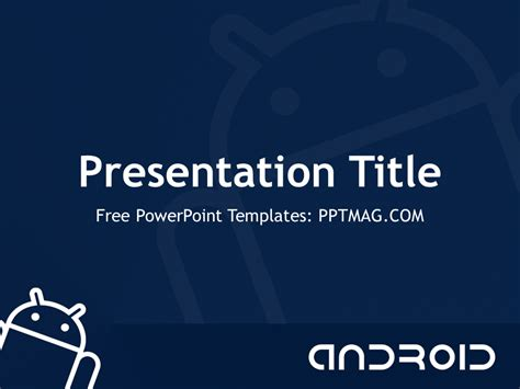 Android Powerpoint Template free android powerpoint template pptmag