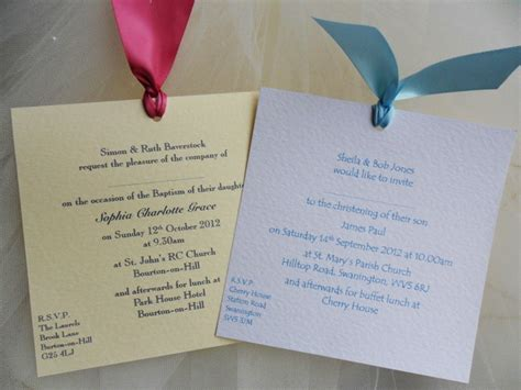 Handmade Baptism Invitations - handmade chantilly christening invitations and baptism