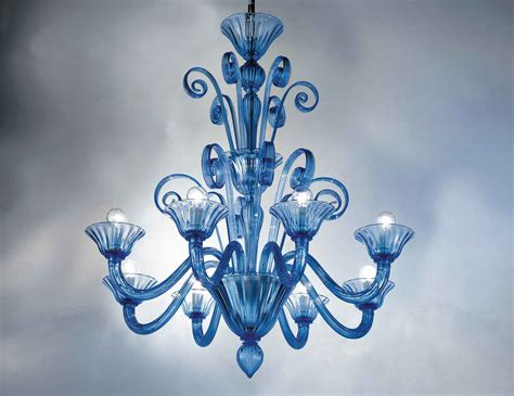 Blue Chandelier Nella Vetrina 9003 08 Venetian Chandelier In Light
