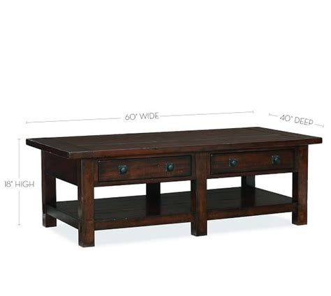Rustic Mahogany Coffee Table Benchwright Rectangular Coffee Table Rustic Mahogany Pottery Barn