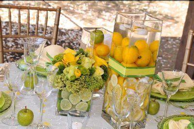 Lemon Lime centerpieces   Wedding Decorations   Pinterest