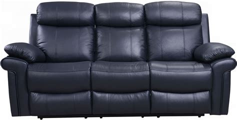 blue reclining sofa shae joplin blue leather power reclining sofa from luxe