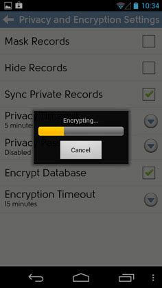 android pattern encryption dejaoffice 2 2 new feature full database encryption