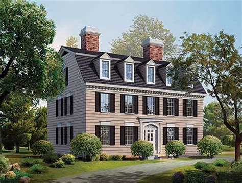 Federal Style Home Plans Simplicity In A Federal Style Home Plan 81142w 2nd Floor Master Suite Colonial Den Office