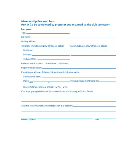 social club membership application form template 15 membership application templates free sle