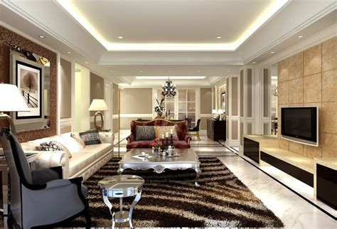 style living room european style living room design with carpet cabinet and doors 3d house