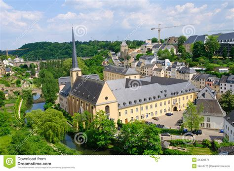 Lu City Z town and st jean baptiste in the city of luxembourg