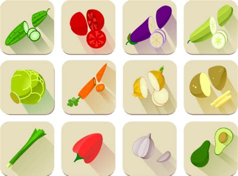 vegetables printable stickers  printable papercraft