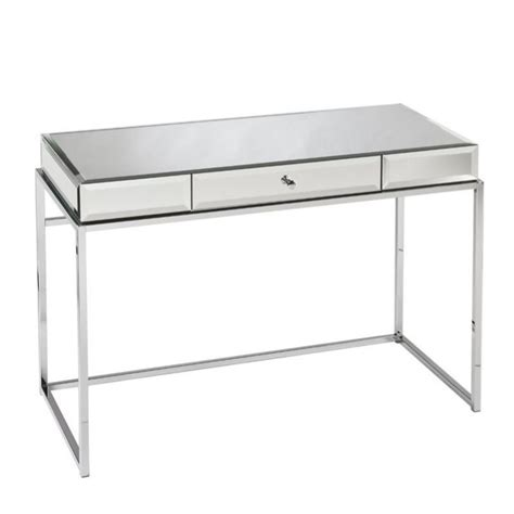 southern enterprises mirrored desk with drawer in
