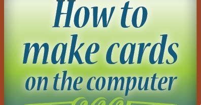 how to make a card on the computer family tree how to make cards on the computer tutorial