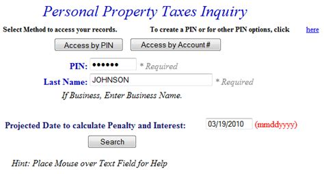 How To Find Personal Property Tax Records Pay Personal Property Tax