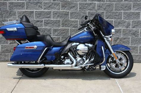 harley davidson 2015 ultra limited low color superior blue approximately 2 inches lower than