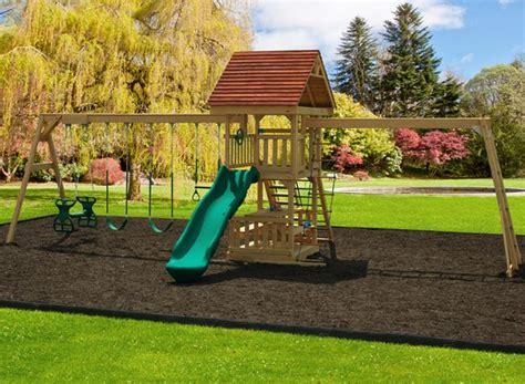 playmor swing sets play mor 145 baryard pal wooden swing sets