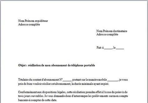 Lettre De Résiliation Free Pdf Modele Resiliation Contrat Location Materiel Document