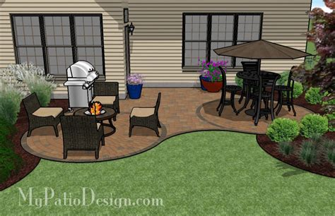 curved patio for l shaped home outdoor fireplaces