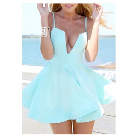light blue summer dress dress skater v neck blue light blue mint slip dress